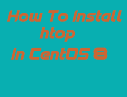 How to install and use htop to monitor system processes in CentOS 8